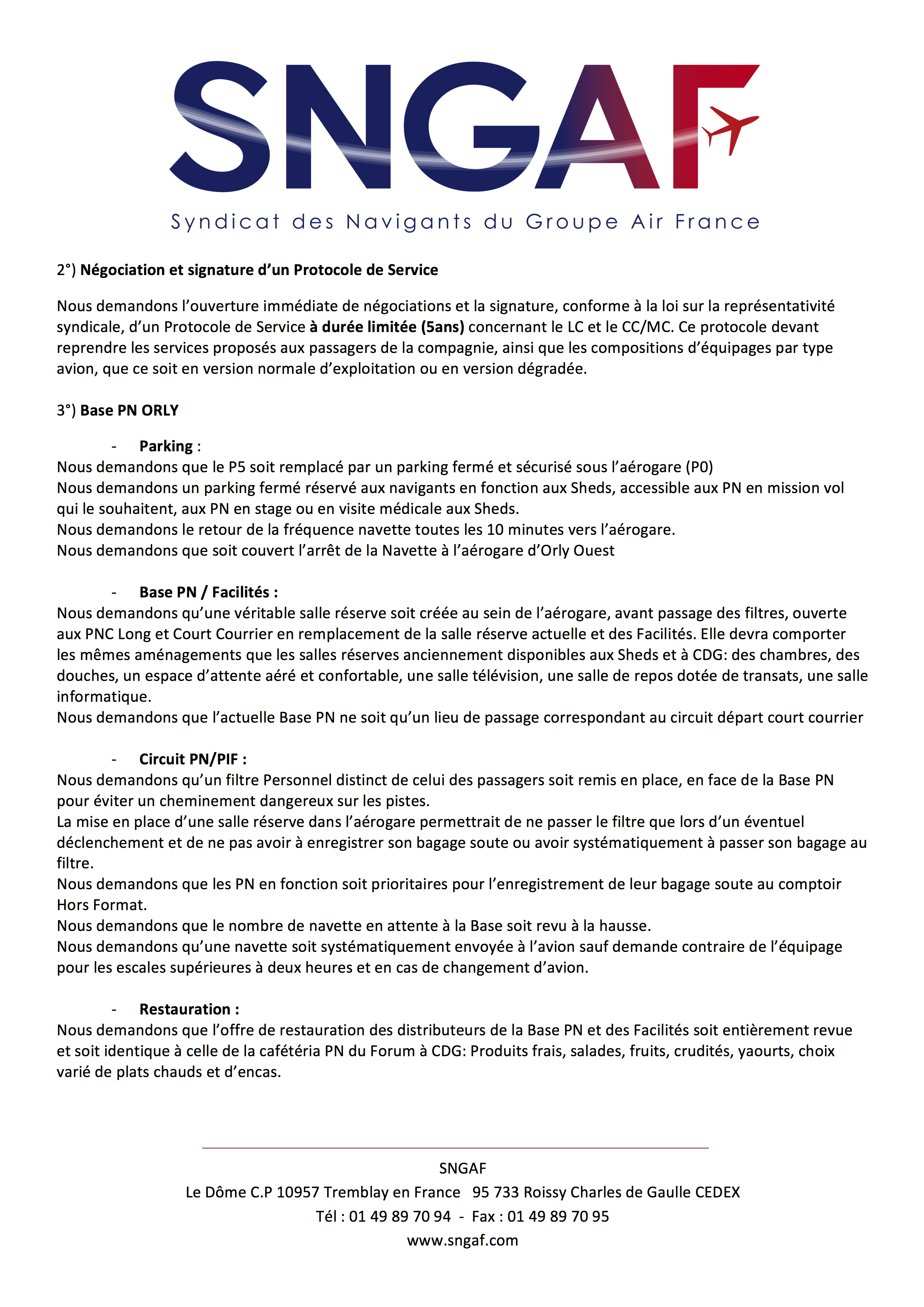 20170823 Courrier prolongation greve a compter du 1er septembre 2