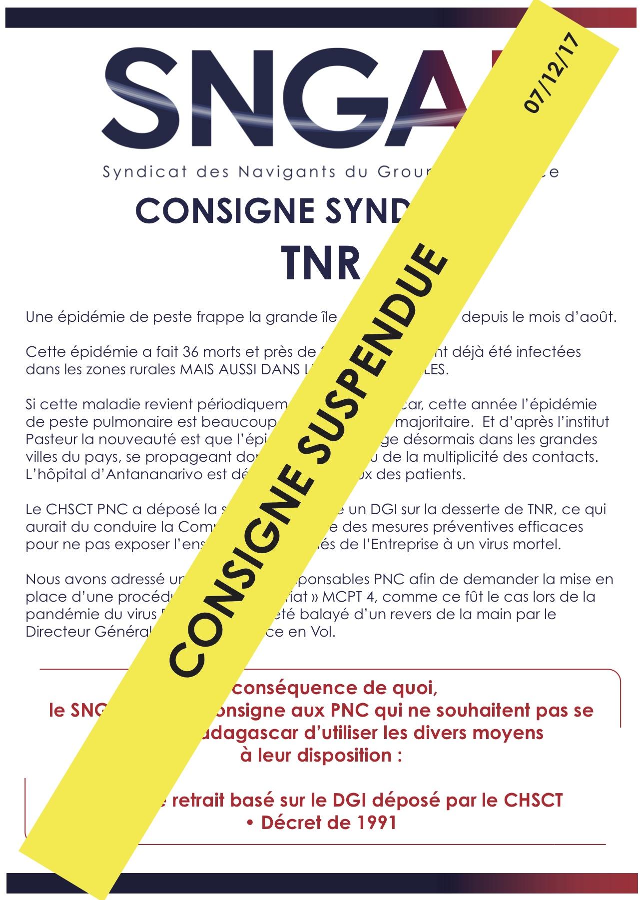 Consigne TNR
