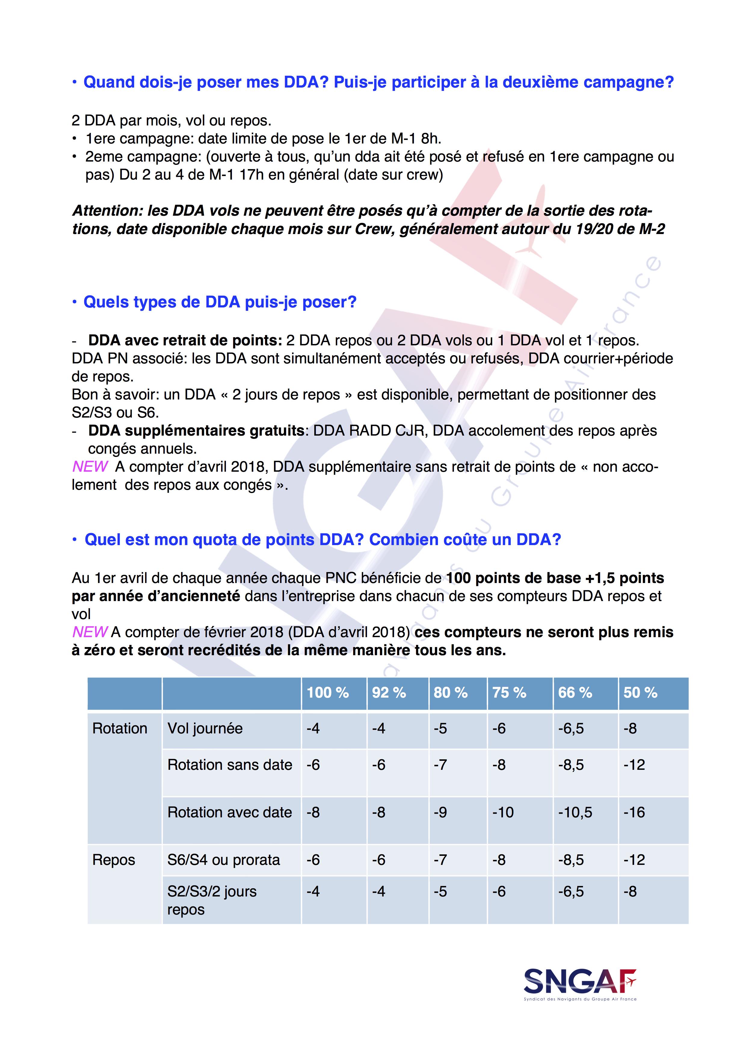 FAQ SNGAF Accord Moyen Courrier 2017-2022-10