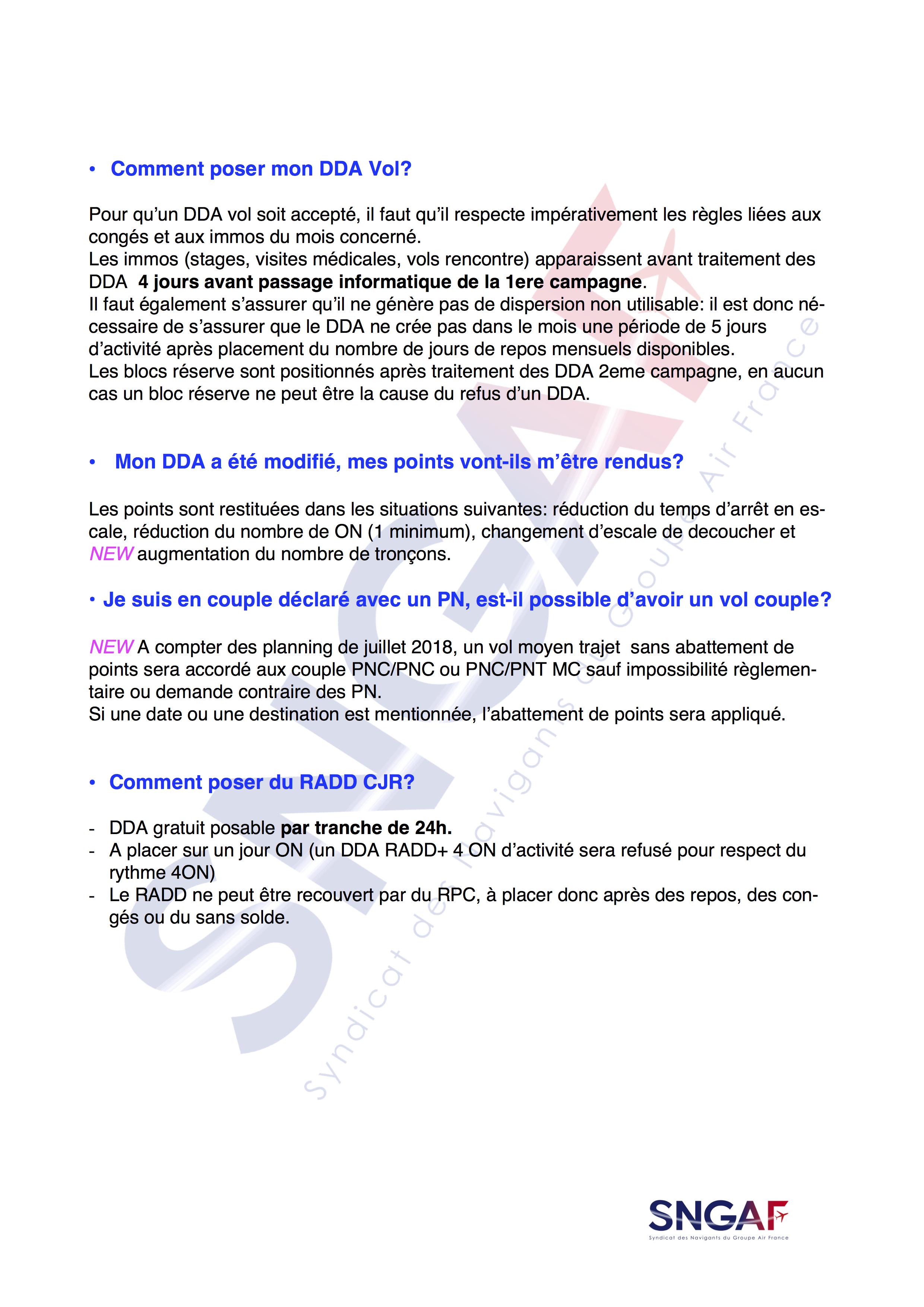 FAQ SNGAF Accord Moyen Courrier 2017-2022-11