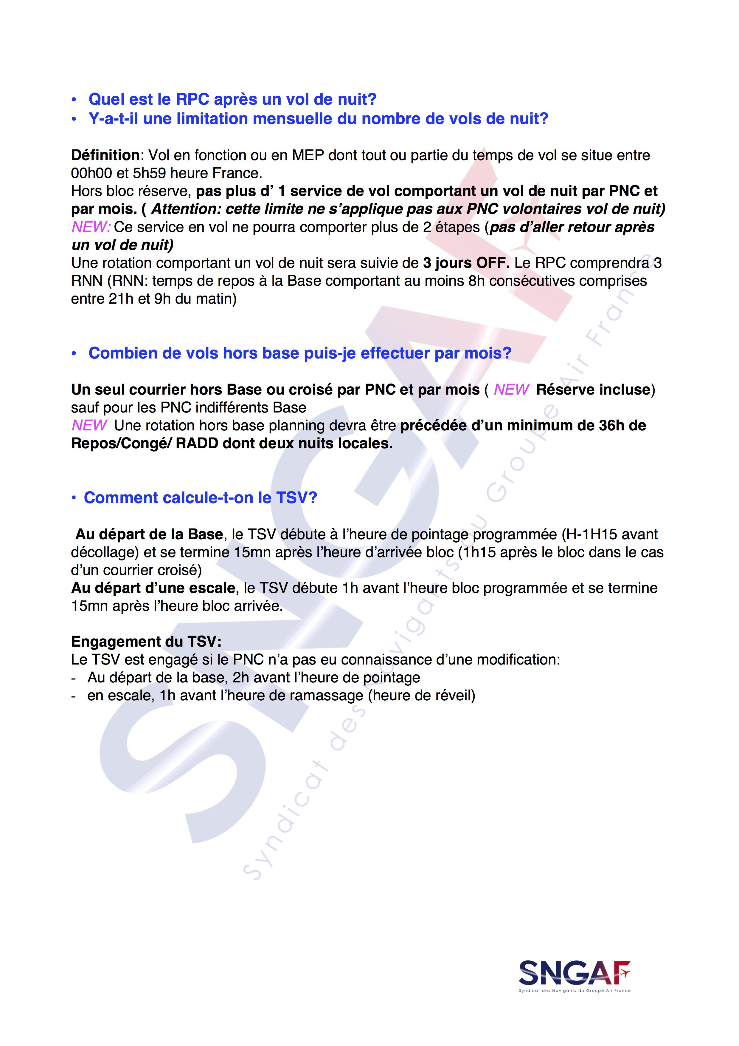 FAQ SNGAF Accord Moyen Courrier 2017-2022-4
