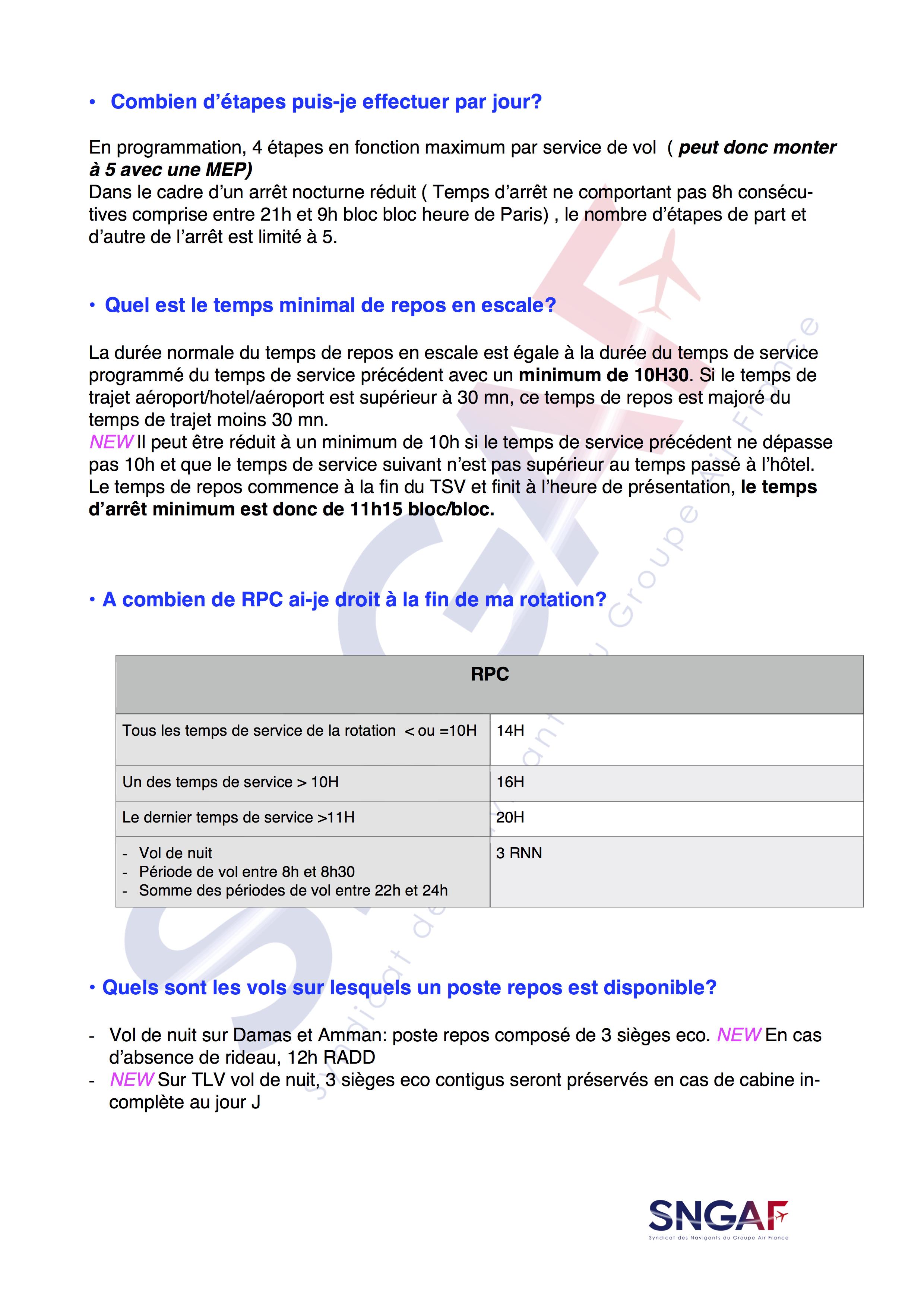 FAQ SNGAF Accord Moyen Courrier 2017-2022-6