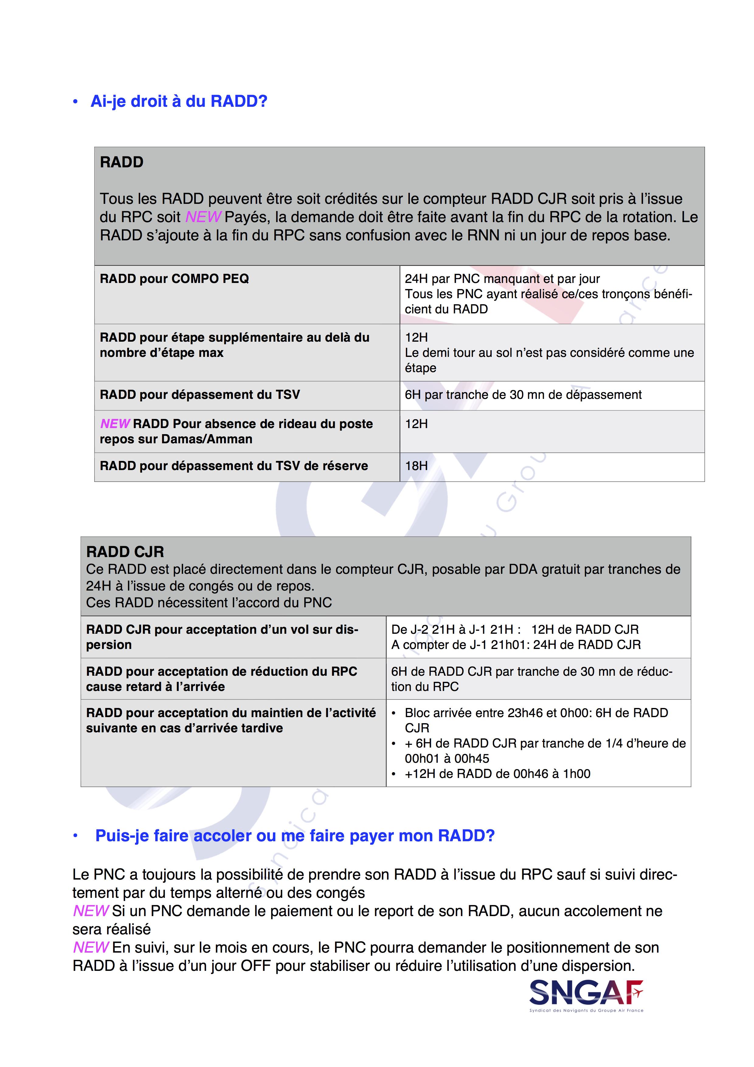 FAQ SNGAF Accord Moyen Courrier 2017-2022-7