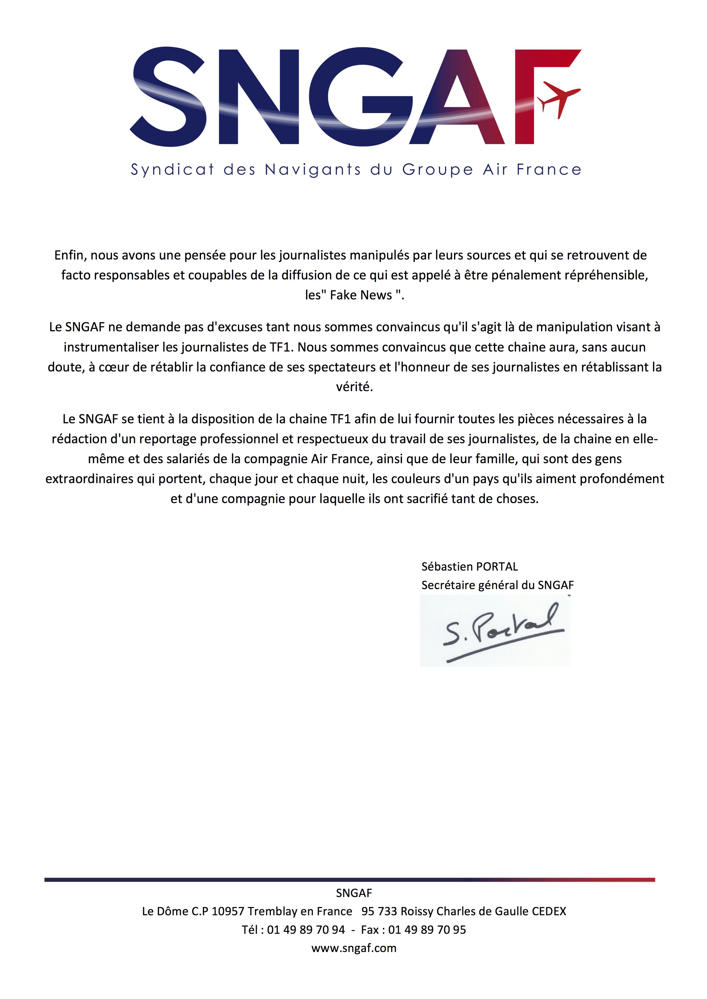 Communiqué Presse TF1 11 MARS 2018