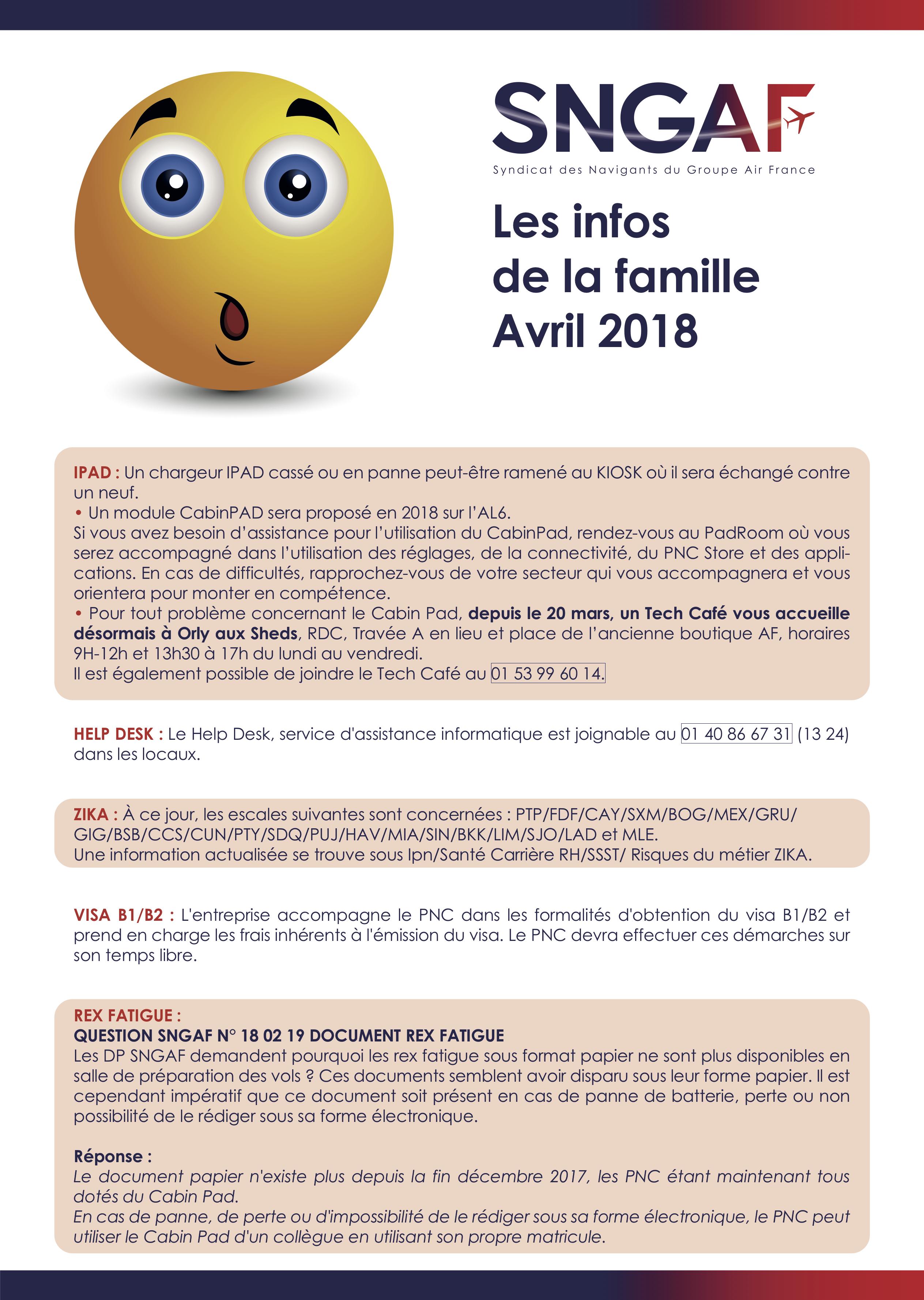 Les infos de la famille - Avril 2018 - 1