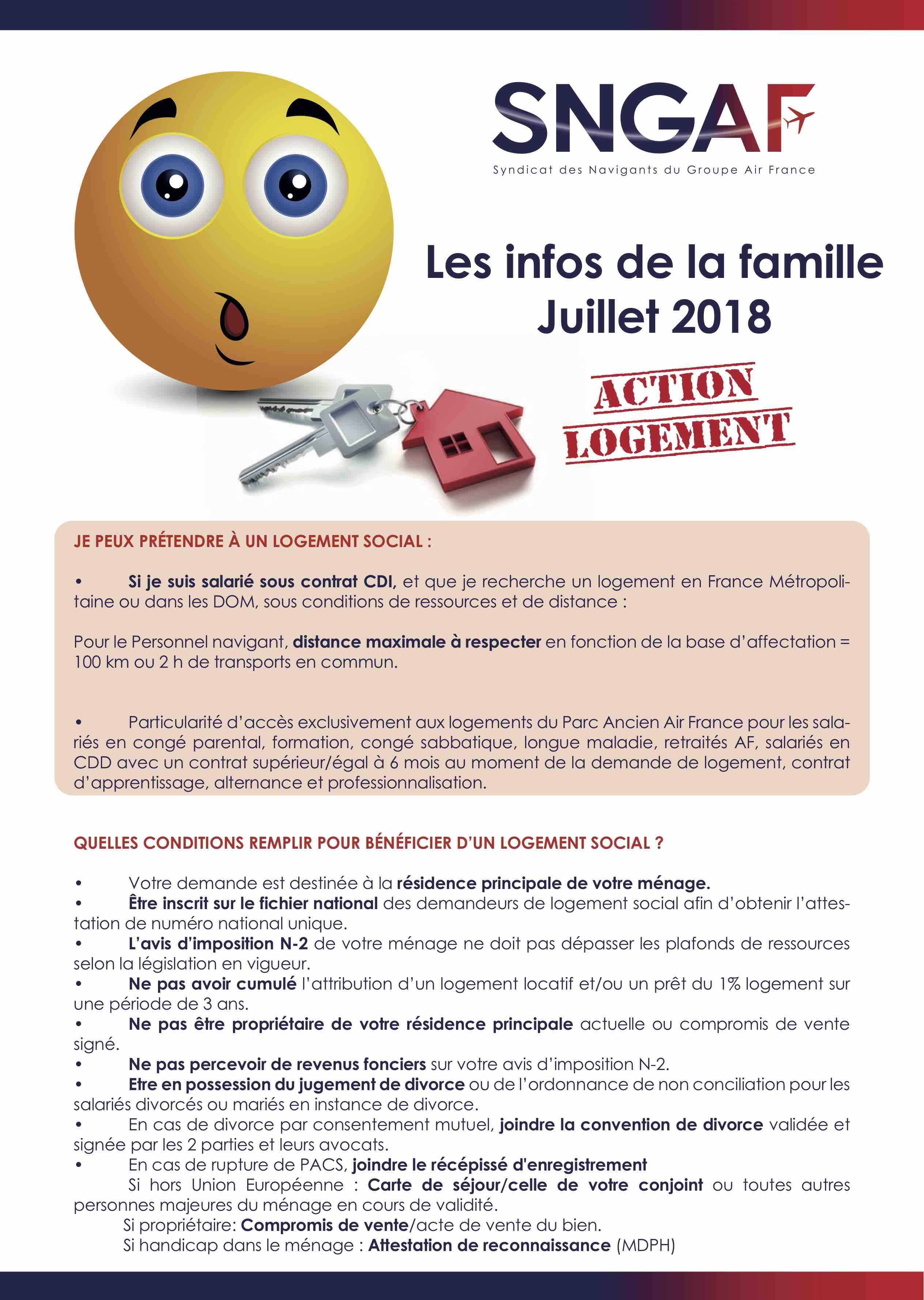 Les infos de la famille - JUILLET 2018 ACTION LOGEMENT_1