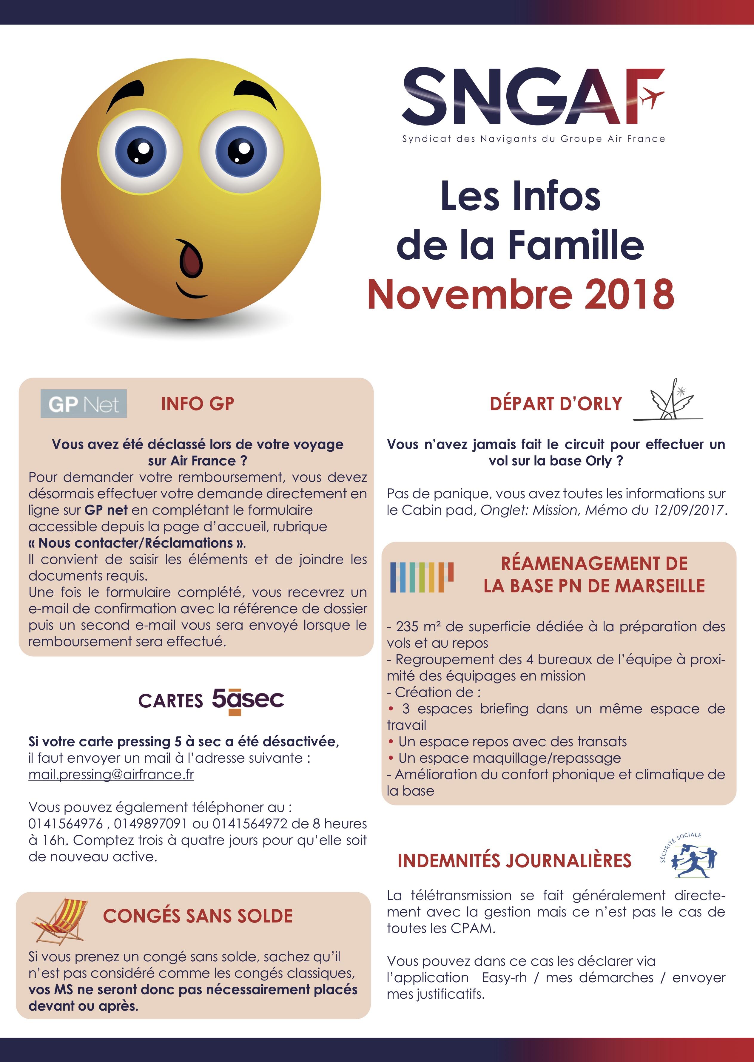 Les infos de la famille - Novembre 2018 - 1